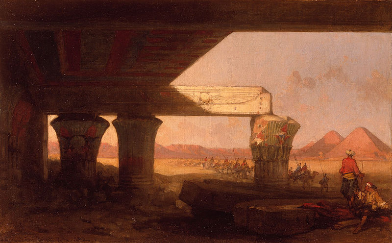File:Egyptian Landscape with a Distant View of the Pyramids) by David Roberts, RA.jpg