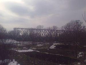 Moldova–Romania relations - Image: Eiffel Bridge Ungheni