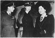 Eleanor Roosevelt, King George VI, Queen Elizabeth in London, England - NARA - 195320
