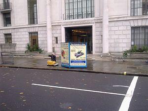 Embassy of China, London - Image: Embassy of China in London Falun Gong protestor