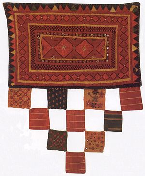 Kutch Museum - Image: Embroidered hanging, Kutch (western India
