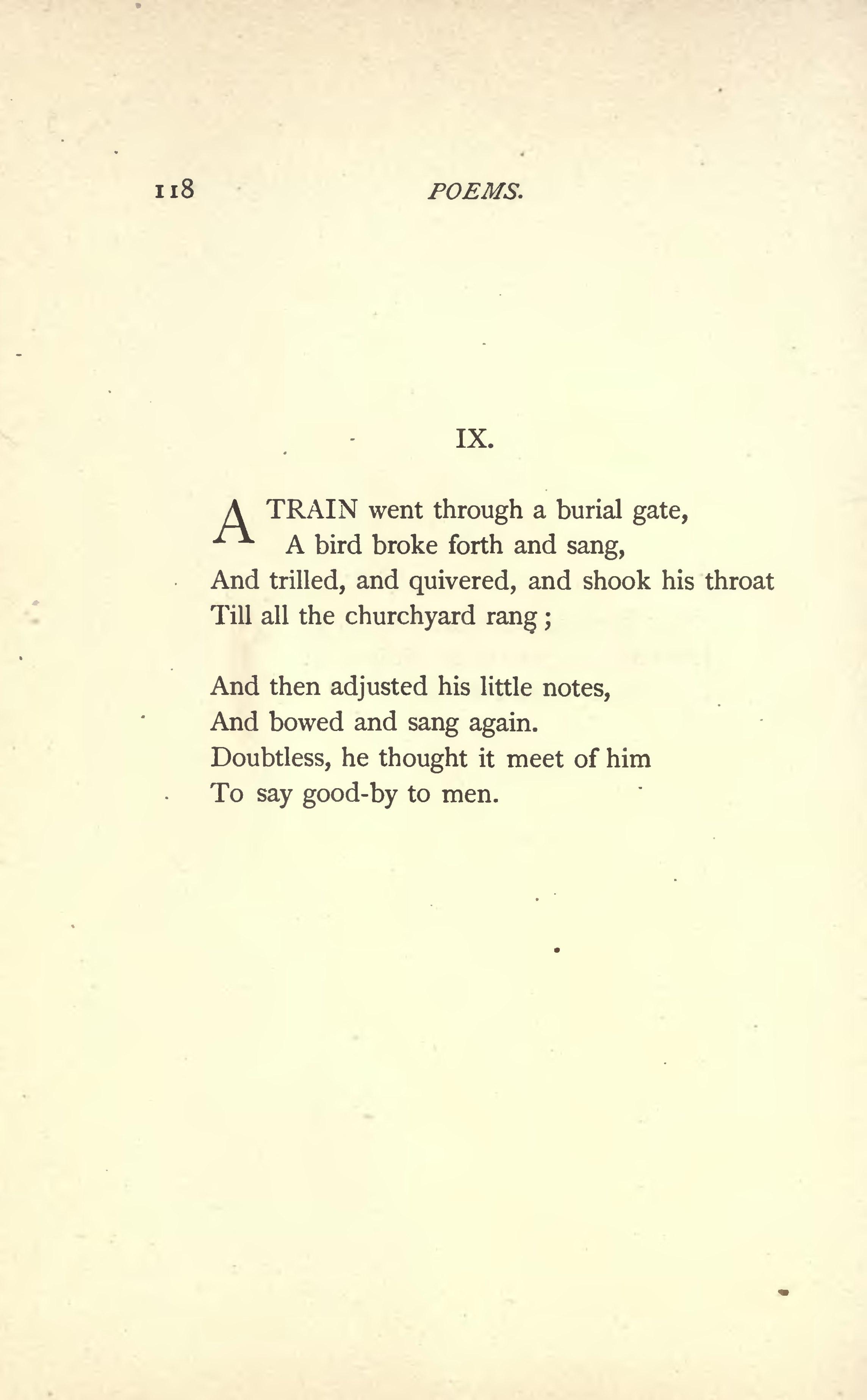 "emily dickinson the last night she 20 ""the last night that she lived"" dickinson, emily 1924 complete poems."