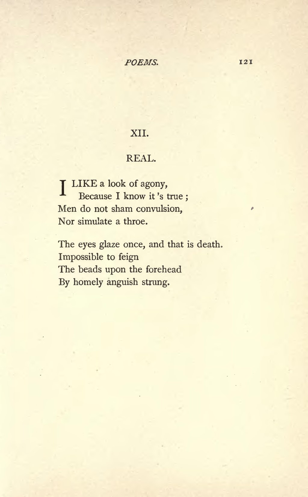 two emily dickinson poems Buy two poems of emily dickinson (sa ) by neil g at jwpeppercom choral sheet music there is no frigate like a book and i never saw a moor: two s.