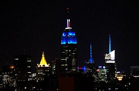 Empire State Building Blue Obama Election.JPG
