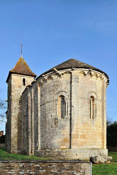 Chevet de l'église Saint-Maixent d'Empuré (Charente)