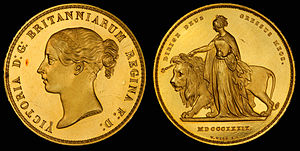 Una and the Lion - United Kingdom 1839 5 Pounds