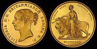 British £5 gold coin