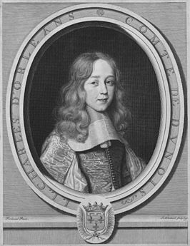 Engraved portrait of Jean Louis Charles d'Orléans (1646-1694), Duke of Longueville by Nanteuil.jpg