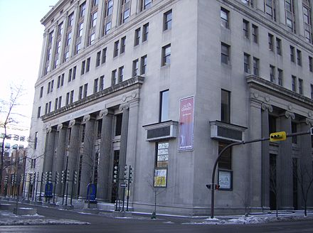 The Arts Commons is a multi-venue arts centre in downtown Calgary. Epcor Centre 5.jpg