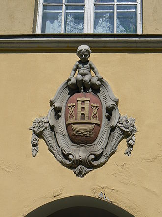 Coat of arms of Klaipėda - Image: Erb Klp Tiltų1 01