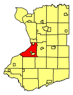 Location of Hamburg in Erie County