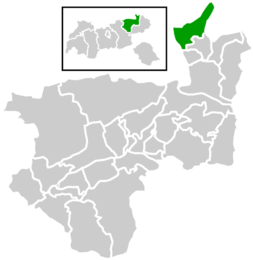 Location within Kufstein district