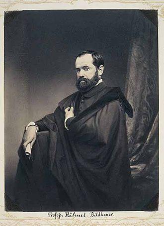 Ernst Julius Hähnel - Ernst Hähnel, photograph by Franz Hanfstaengl