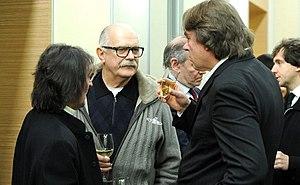 Konstantin Ernst - Konstantin Ernst with Nikita Mikhalkov and Yuri Bashmet