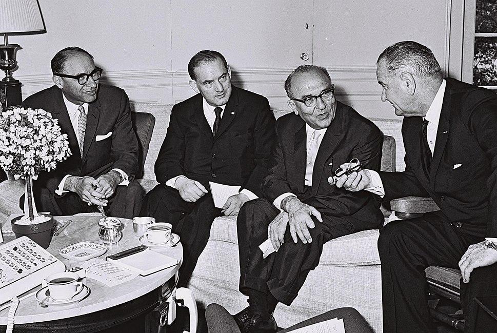Eshkol and Johnson at the White House 1964