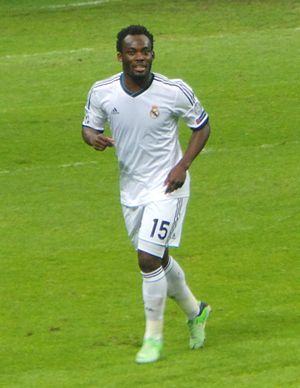 Michael Essien - Michael Essien playing for Real Madrid in 2013