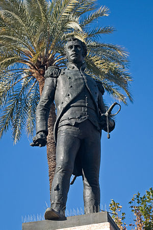 Luis Daoíz y Torres - A statue of Daoíz in Seville showing him in the act of refusing his orders from the junta and resolving to fight the French