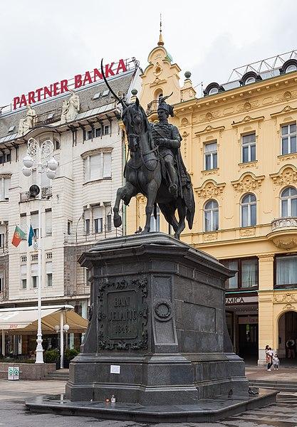 File:Estatua de Ban Jelacic, Zagreb, Croacia, 2014-04-20, DD 01.JPG
