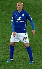 Cambiasso nel 2015 con il Leicester City.
