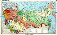 Ethnic map USSR 1941