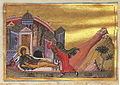 Euphrosyne of Alexandria (Menologion of Basil II).jpg