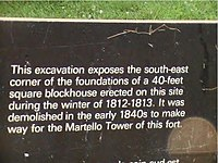 Excavation Plaque detail, Fort Frederick Museum, Royal Military College of Canada