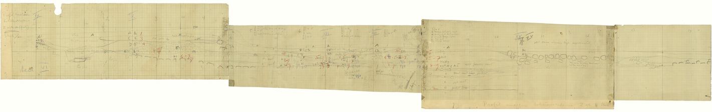 Fältritning. Sektion VI. Profil mellan Z och H. Skala 1-20. Sammansatt bild - SMVK - 15897D.tif