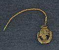 Fíbula del tresor ibèric de Xàbia, reproducció de l'original al Museu Soler Blasco.JPG