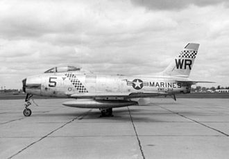 North American FJ-2/-3 Fury - Marine Corps FJ-2 of the VMF-312 Checkerboards.
