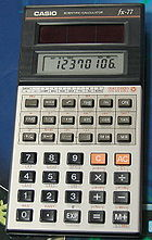 Solar powered scientific calculator