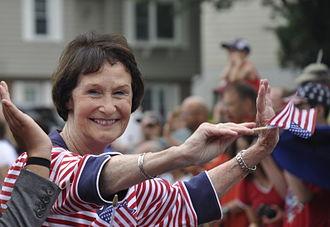 Sharon Bulova - Bulova during 2015 Fairfax City 4th of July parade.