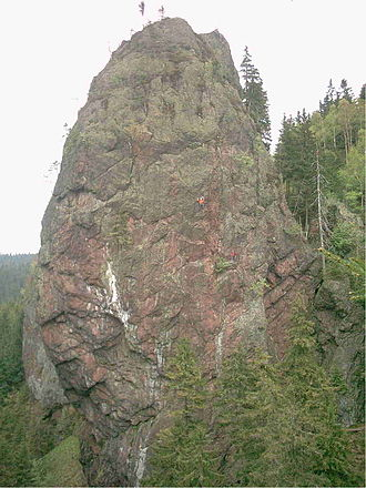 Thuringian Forest - Falkenstein near Tambach-Dietharz, consisting of volcanites of Oberhof formation