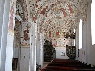 Fanefjord Church - Church's interior following restoration work