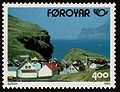 Faroe stamp 240 the village gjogv.jpg