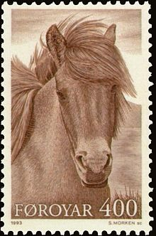 Faroe stamp 242 horse in the Faroes.jpg
