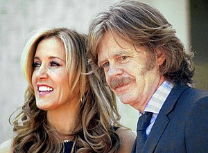 William H. Macy - Huffman and Macy at a ceremony where each received a star on the Hollywood Walk of Fame on March 7, 2012