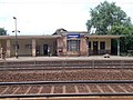 Felsőgöd train stop, Vasút Street side, 2020 Göd.jpg