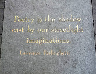 Jack Kerouac Alley - Image: Ferlinghetti's plaque