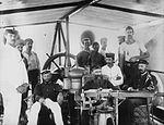 Ferry crew in the bridge (2376882856).jpg