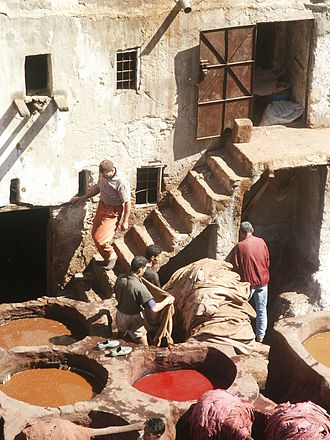 Dyeing - Dyeing in Fes, Morocco.