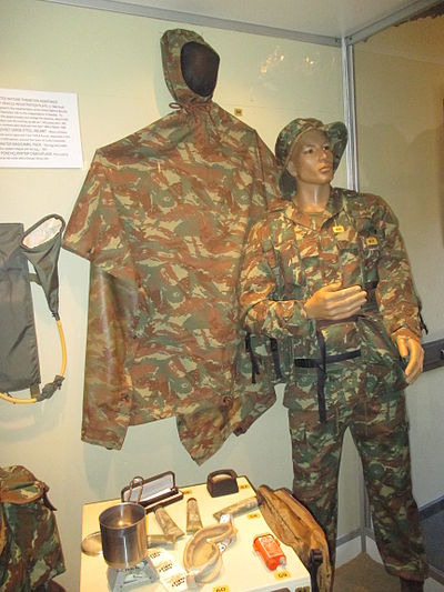 32 Battalion uniform patterned after those issued to FAPLA. Members of this unit often wore ubiquitous uniforms to avoid scrutiny while operating in Angola Figure32Battalion.jpg