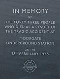 Gedenkteken bij station Moorgate