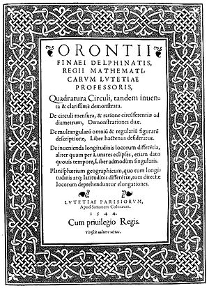 Squaring the circle - Oronce Finé, Quadratura circuli, 1544