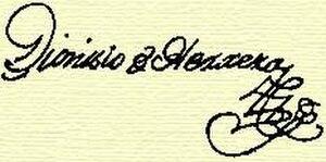 Dionisio de Herrera - Image: Firma de Dionisio de Herrera