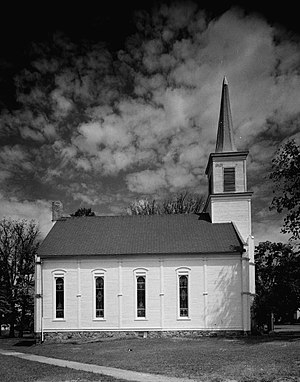 National Register of Historic Places listings in Eaton County, Michigan - Image: First Congregational Church, Vermontville