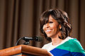 First Lady Michelle Obama thanks U.S. Department of Agriculture (USDA) employees for their service and dedication at the Jefferson Auditorium, USDA on Friday, May 3, 2013 (Pic 3).jpg