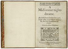 A Midsummer Night's Dream - Wikipedia