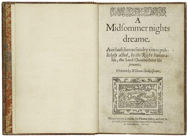 First Quarto Printing of A Midsummer Night%27s Dream.jpg