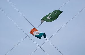 Non-Nuclear Aggression Agreement - Flags of India and Pakistan, 2012