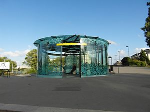 Nantes Busway - Circle shaped Duchesse Anne Château Station